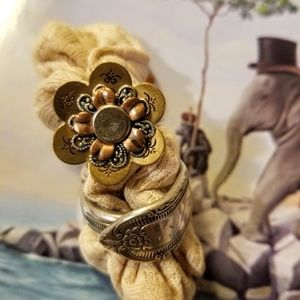 Cute Flower Ring and Spoon Ring Size 10